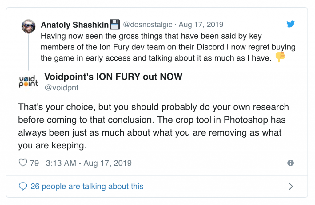 Ion Fury developer apologises for sexist, homophobic and